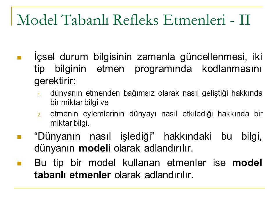 Model Tabanlı Refleks Etmenleri - II