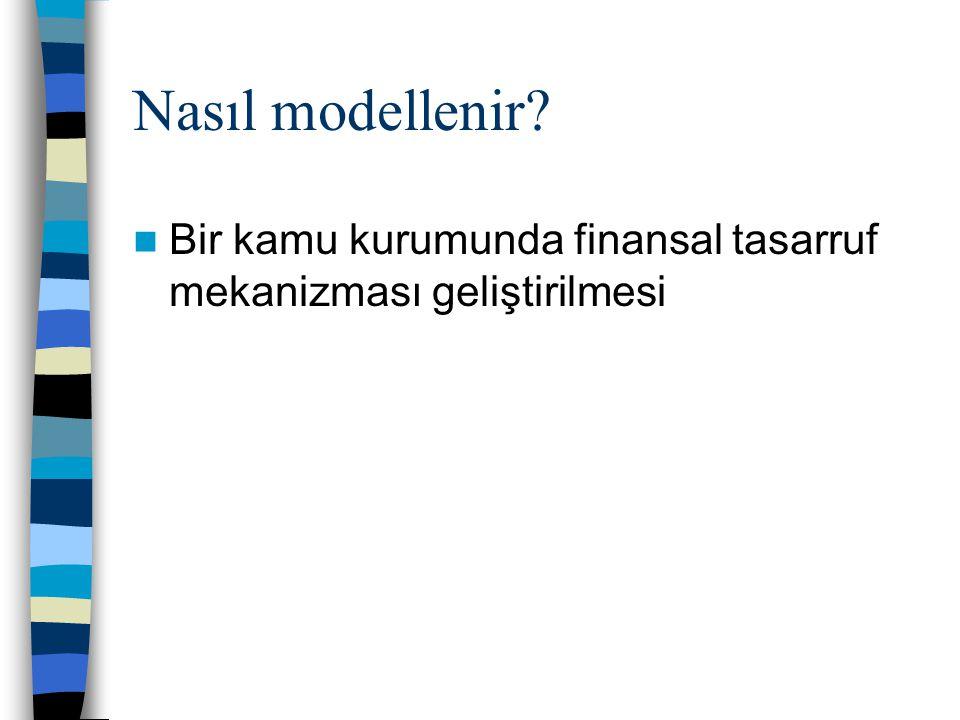 Nasıl modellenir Bir kamu kurumunda finansal tasarruf mekanizması geliştirilmesi