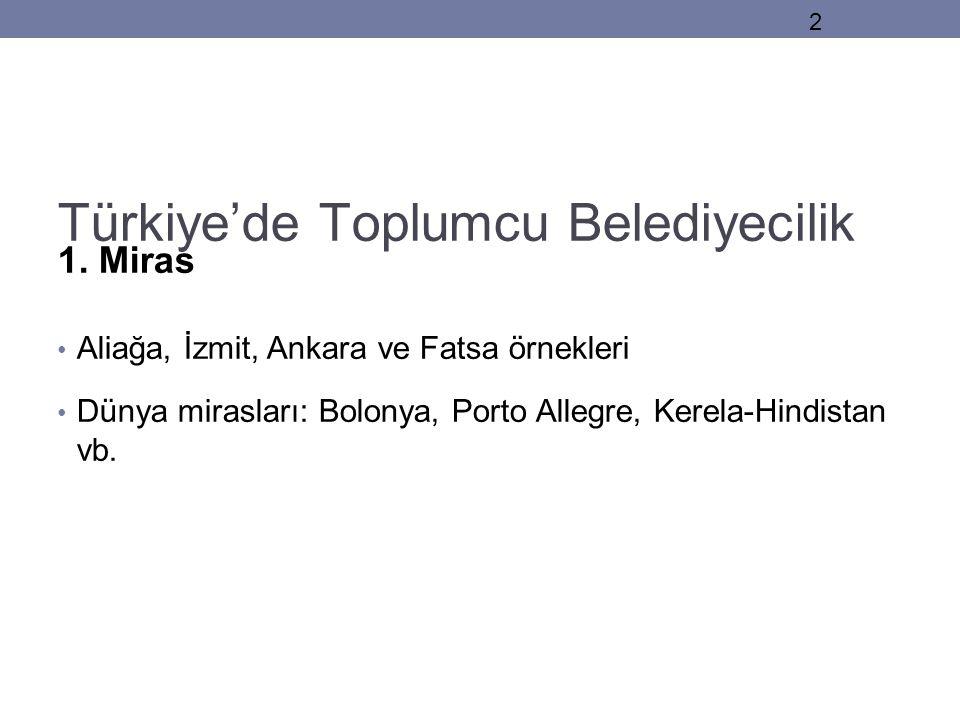Türkiye'de Toplumcu Belediyecilik