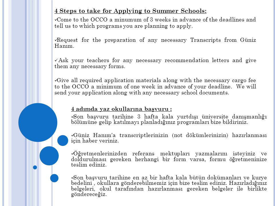 4 Steps to take for Applying to Summer Schools: