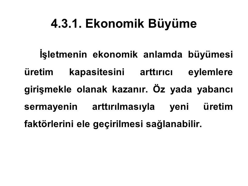 4.3.1. Ekonomik Büyüme