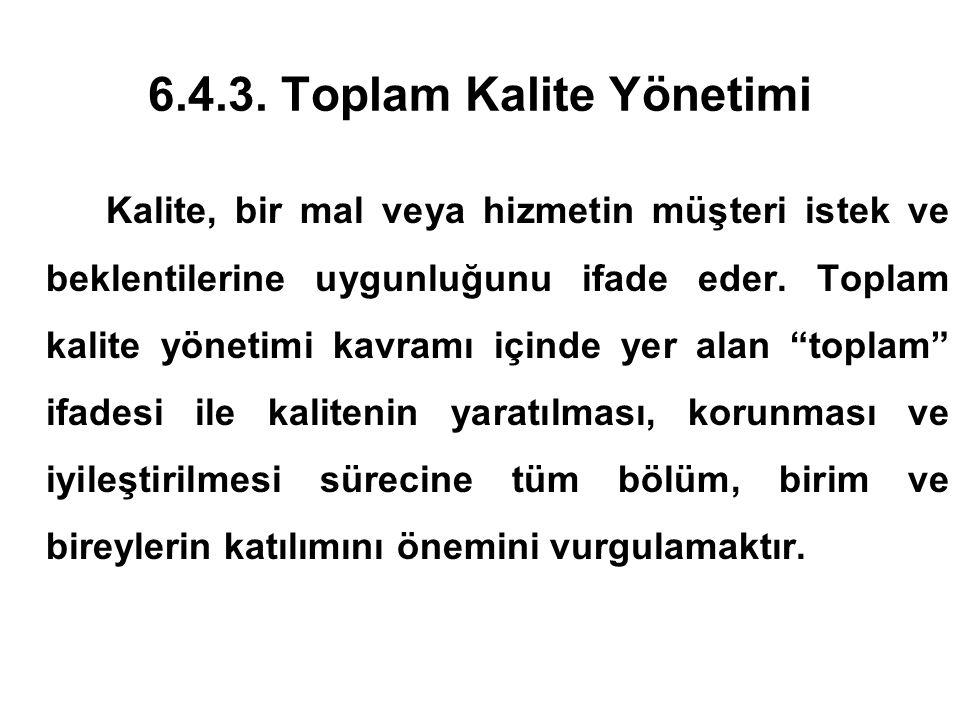 6.4.3. Toplam Kalite Yönetimi