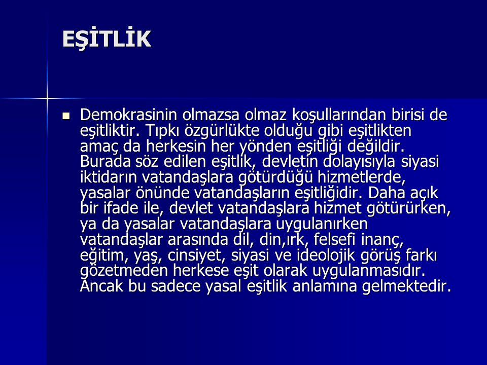 EŞİTLİK