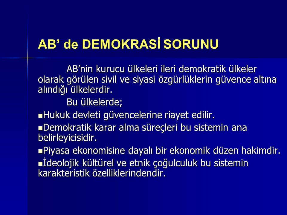 AB' de DEMOKRASİ SORUNU