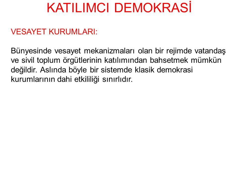 KATILIMCI DEMOKRASİ VESAYET KURUMLARI: