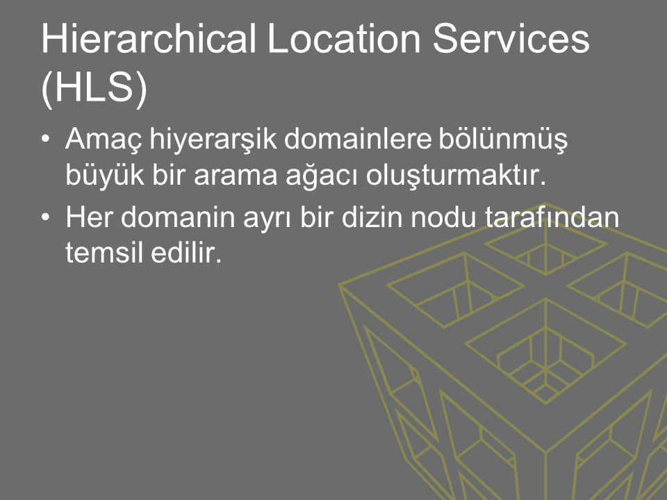Hierarchical Location Services (HLS)