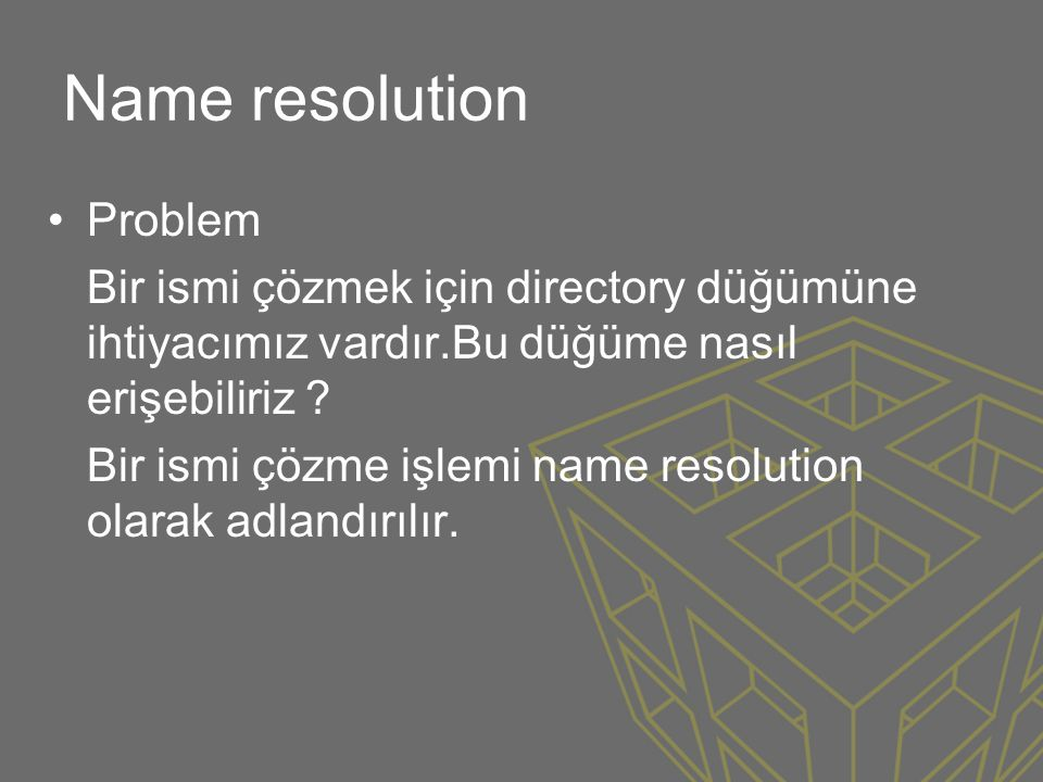 Name resolution Problem