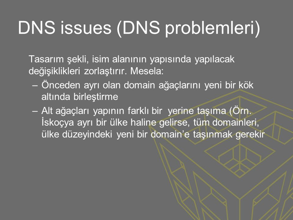 DNS issues (DNS problemleri)