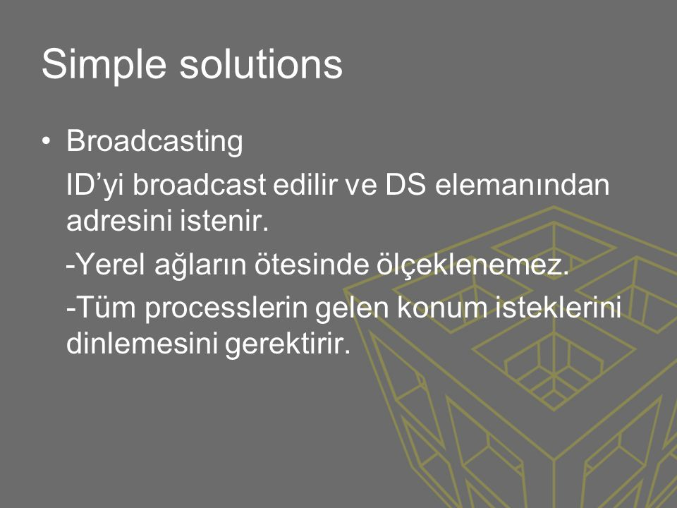 Simple solutions Broadcasting