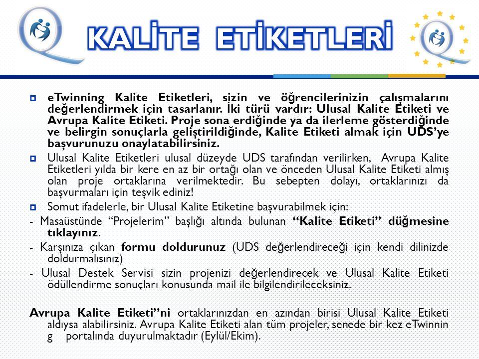 KALİTE ETİKETLERİ