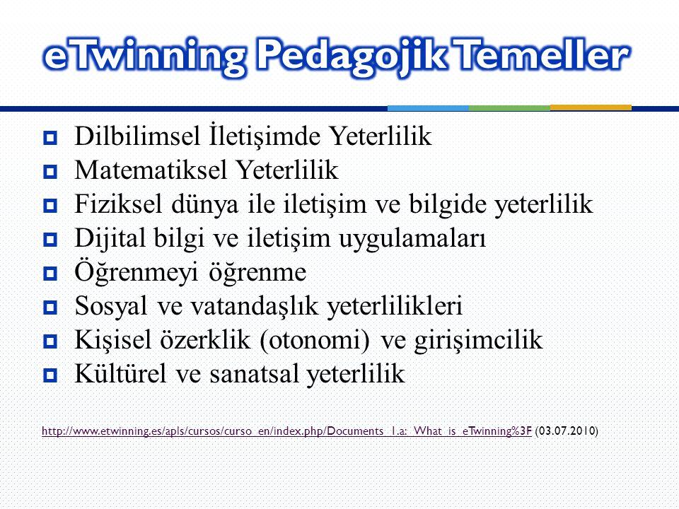 eTwinning Pedagojik Temeller
