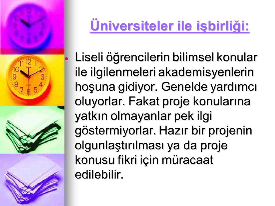 Üniversiteler ile işbirliği: