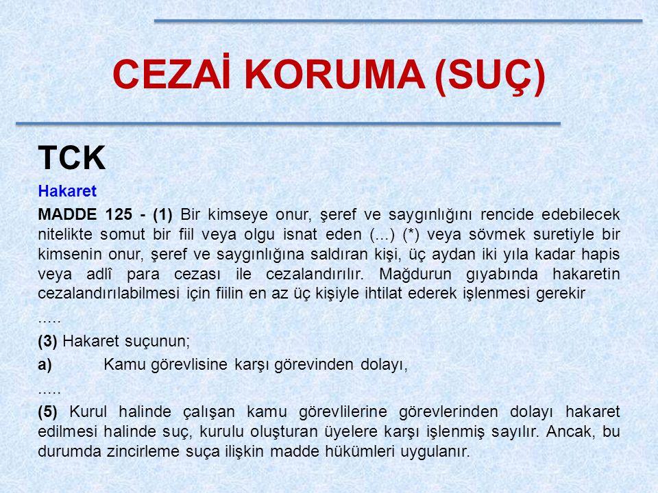 CEZAİ KORUMA (SUÇ) TCK Hakaret