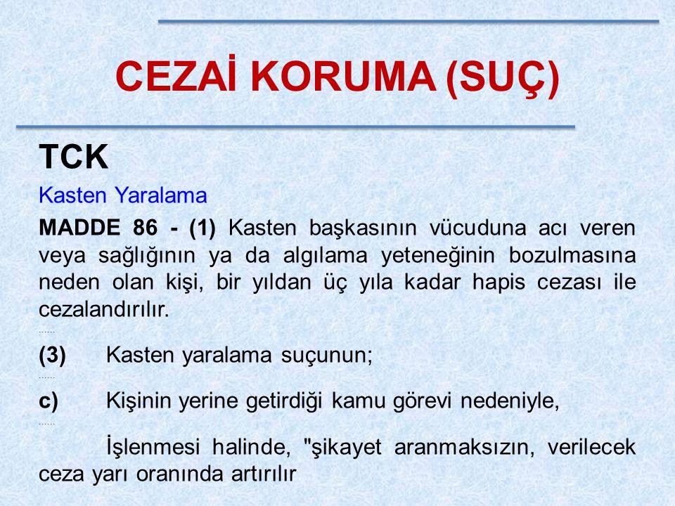 CEZAİ KORUMA (SUÇ) TCK Kasten Yaralama