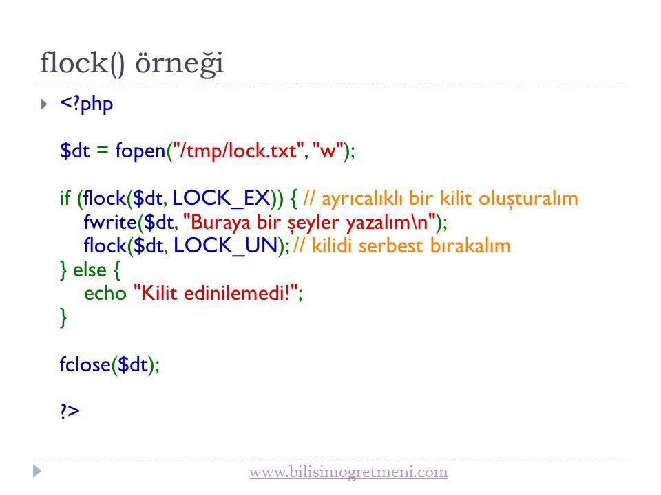 flock() örneği