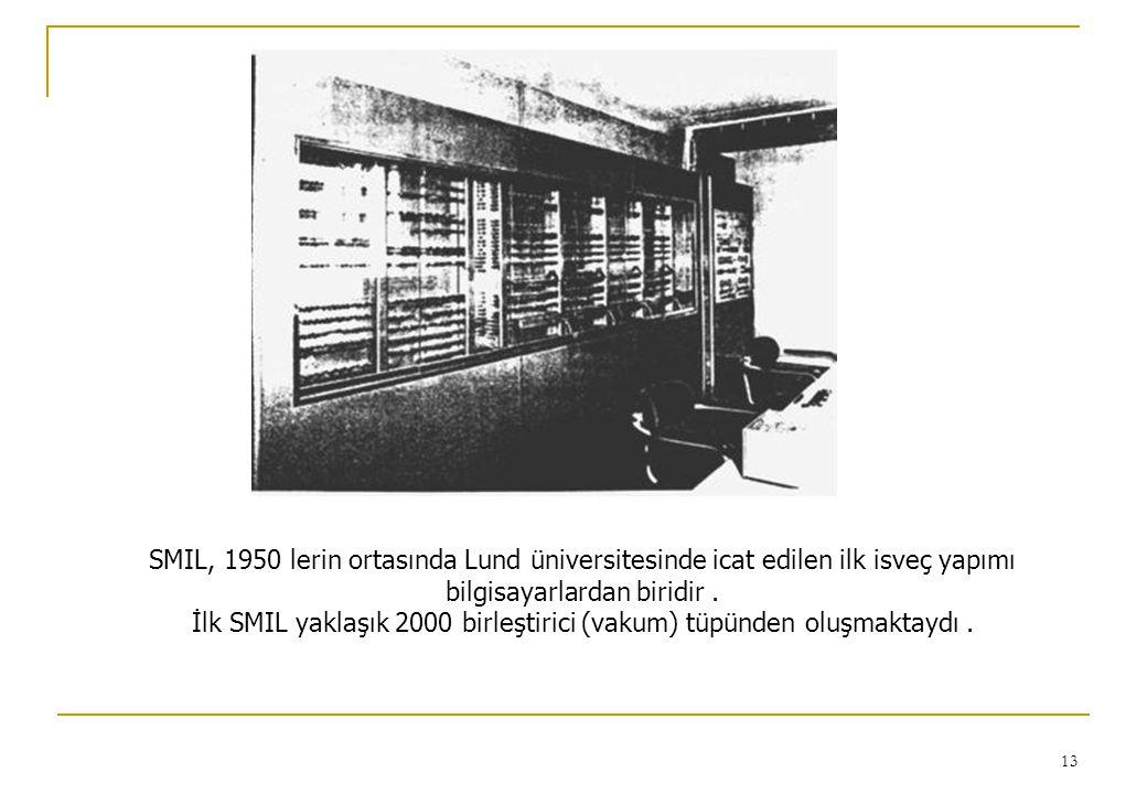 İlk SMIL yaklaşık 2000 birleştirici (vakum) tüpünden oluşmaktaydı .