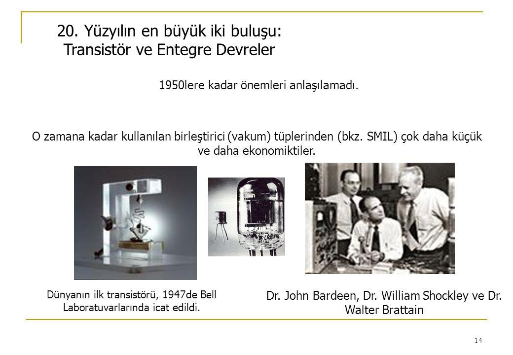 20. Yüzyılın en büyük iki buluşu: Transistör ve Entegre Devreler