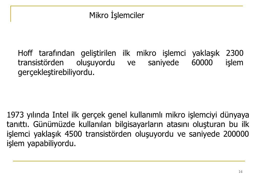 Mikro İşlemciler