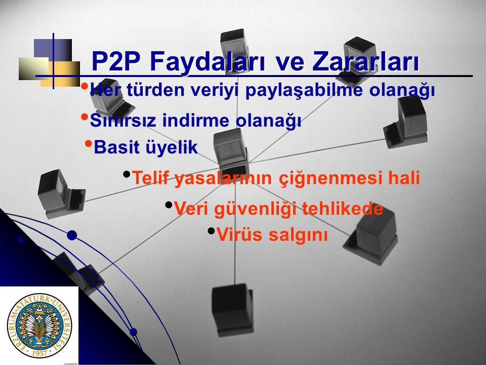 P2P Faydaları ve Zararları