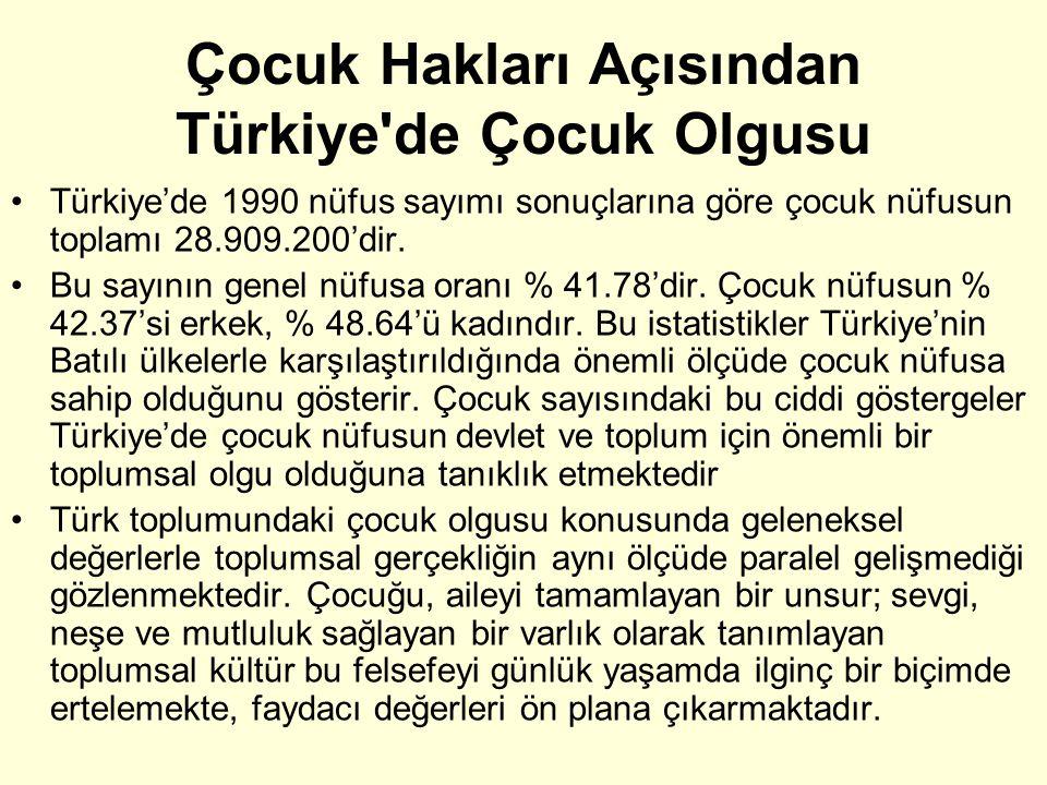 Çocuk Hakları Açısından Türkiye de Çocuk Olgusu