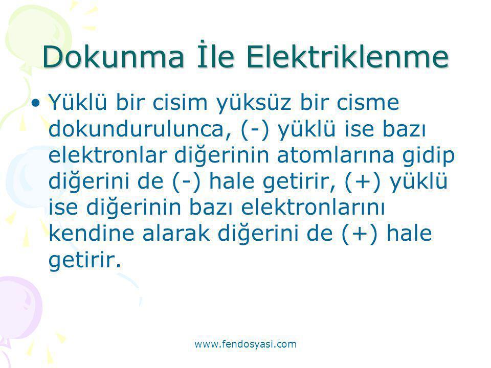 Dokunma İle Elektriklenme