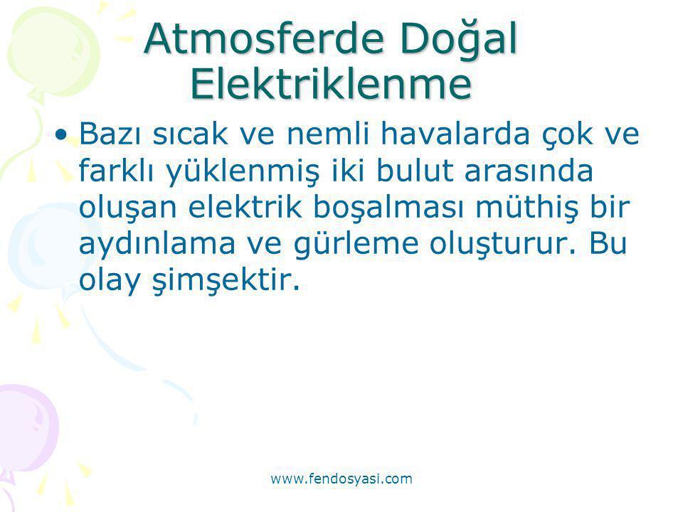 Atmosferde Doğal Elektriklenme
