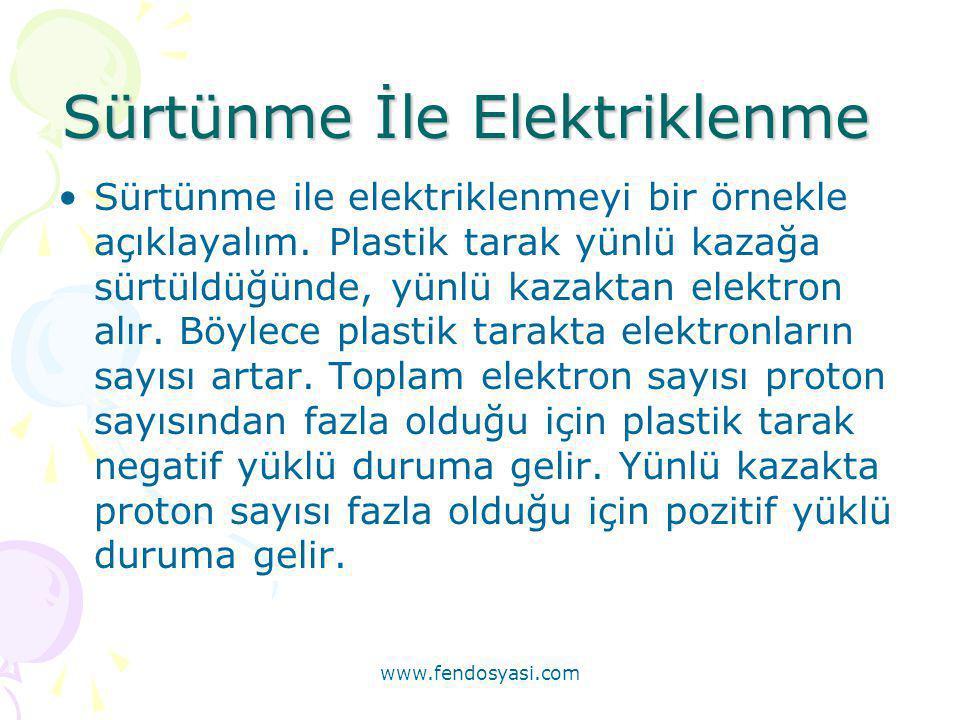 Sürtünme İle Elektriklenme