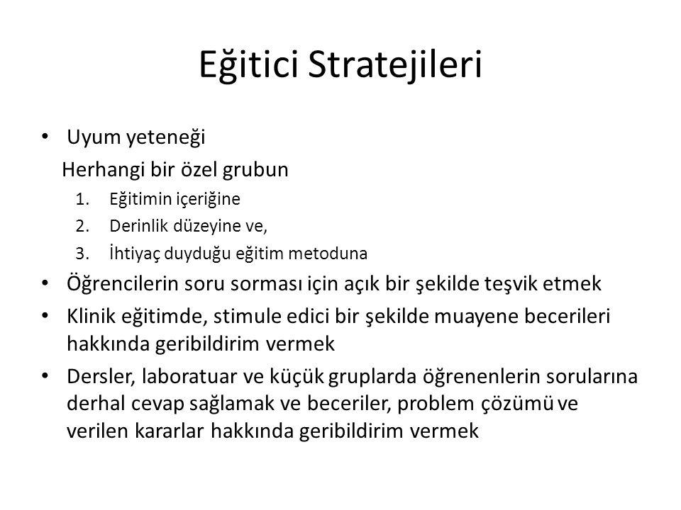 Eğitici Stratejileri Uyum yeteneği Herhangi bir özel grubun