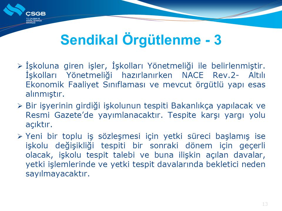 Sendikal Örgütlenme - 3