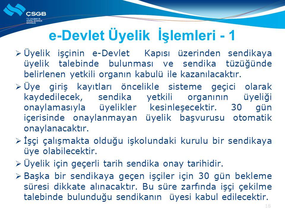 e-Devlet Üyelik İşlemleri - 1