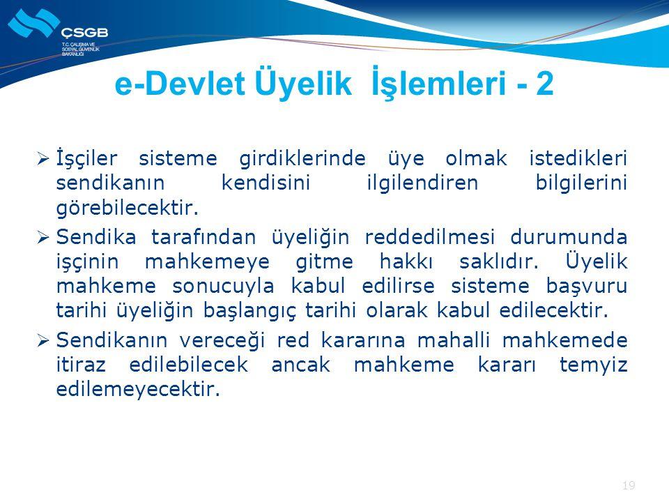 e-Devlet Üyelik İşlemleri - 2