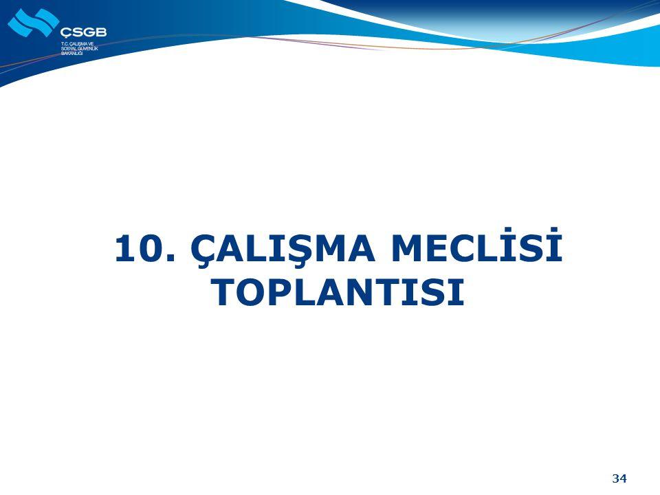 10. ÇALIŞMA MECLİSİ TOPLANTISI