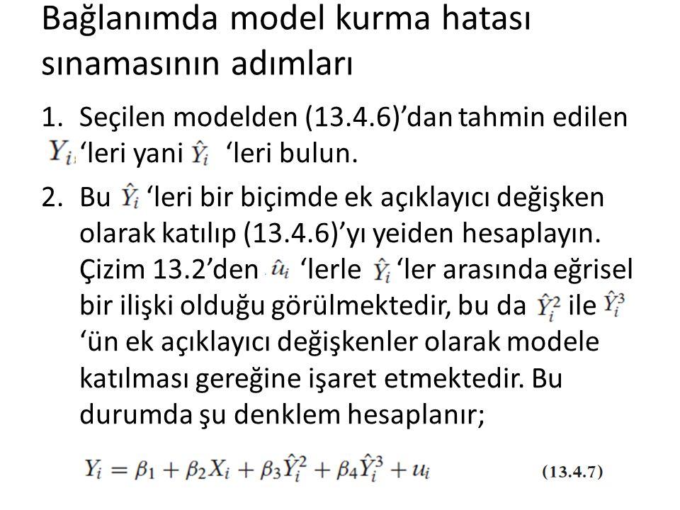 Bağlanımda model kurma hatası sınamasının adımları