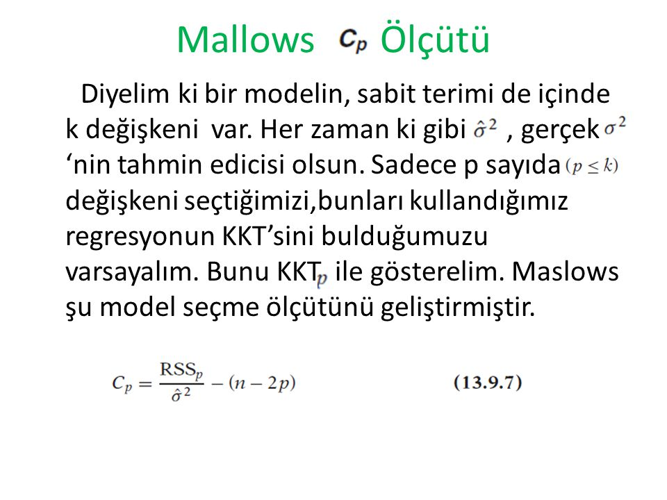 Mallows Ölçütü