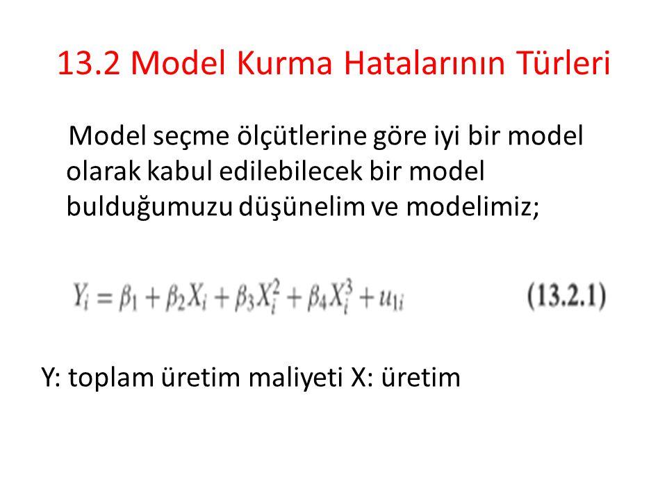 13.2 Model Kurma Hatalarının Türleri