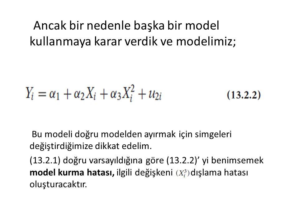Ancak bir nedenle başka bir model kullanmaya karar verdik ve modelimiz;