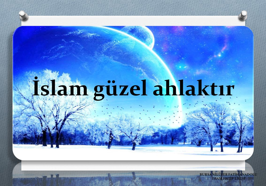 BURSA NİLÜFER FATİH ANADOLU İMAM HATİP LİSESİ