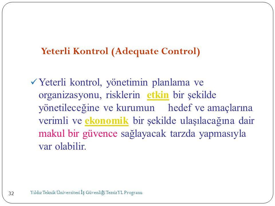 Yeterli Kontrol (Adequate Control)
