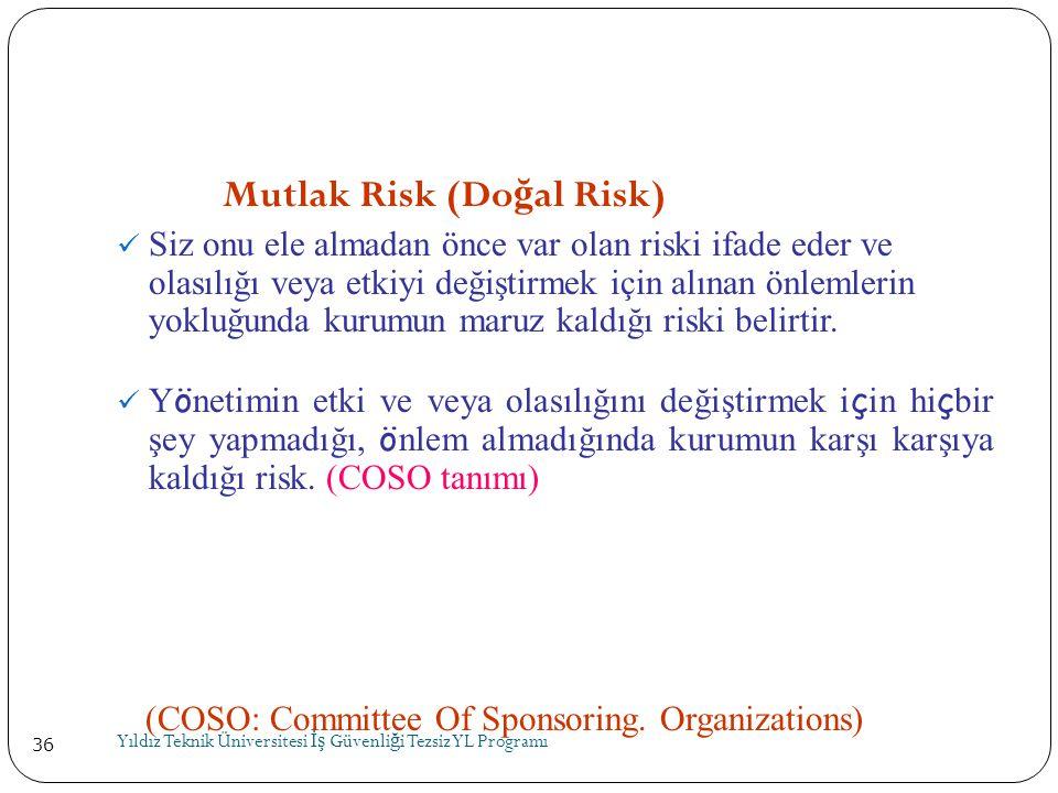 Mutlak Risk (Doğal Risk)