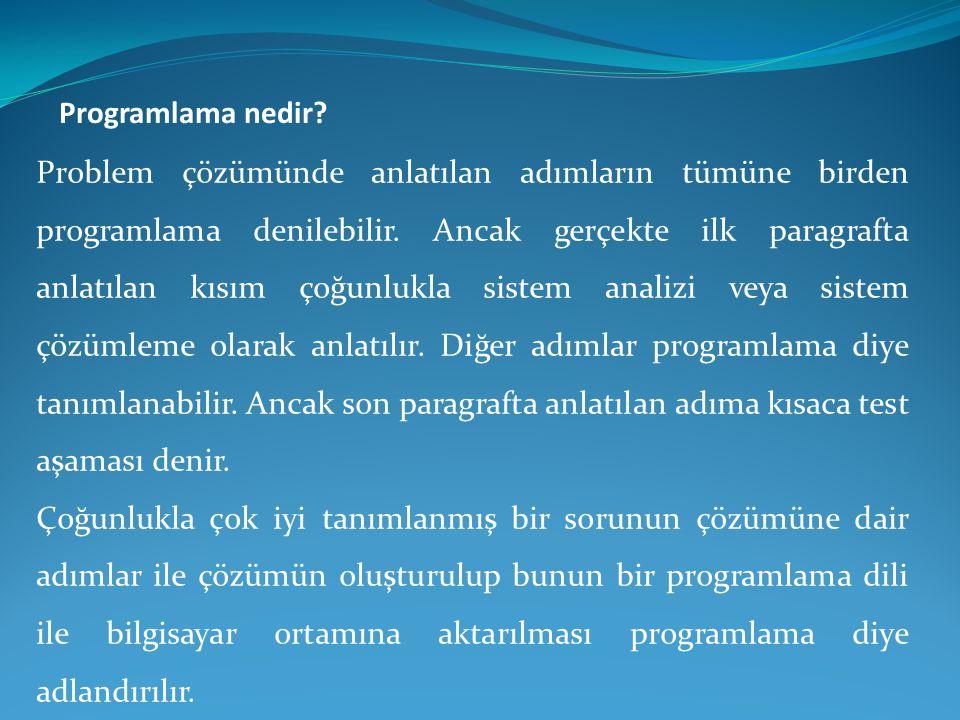 Programlama nedir