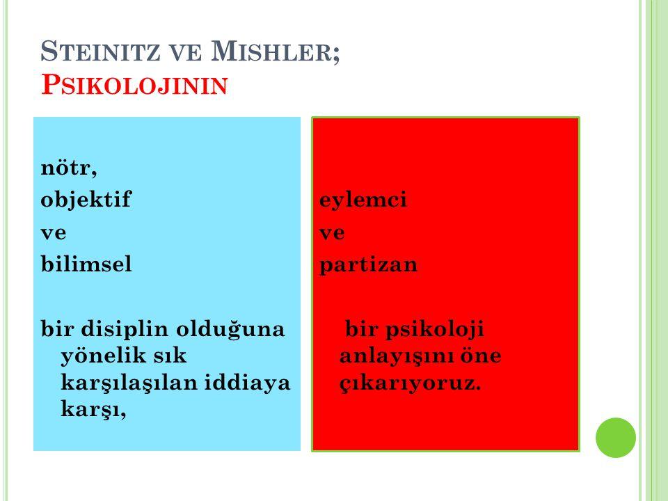 Steinitz ve Mishler; Psikolojinin
