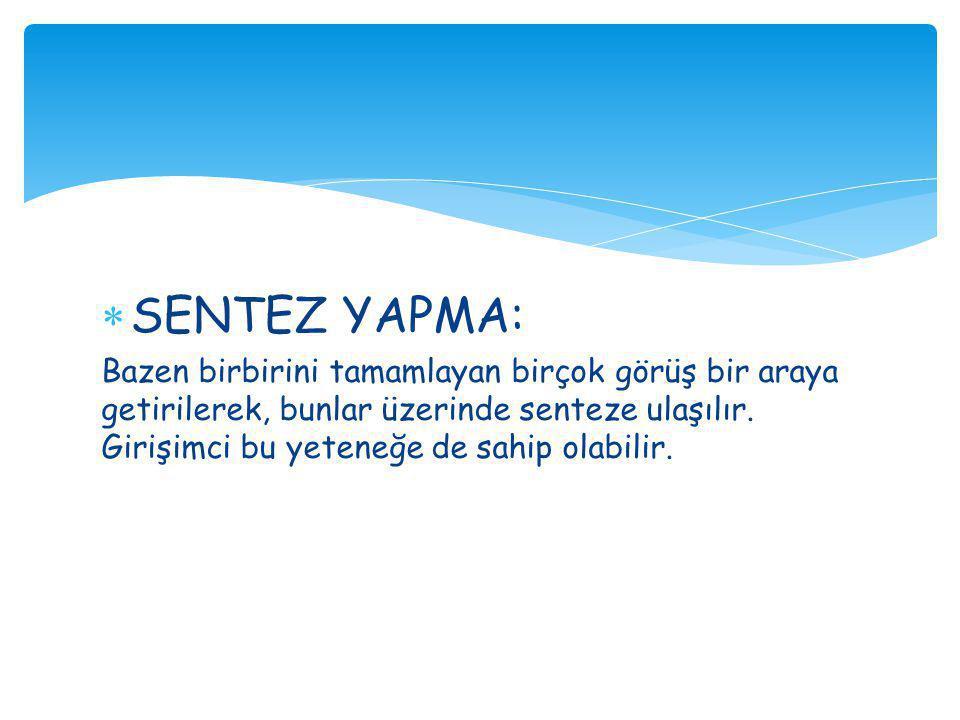SENTEZ YAPMA: