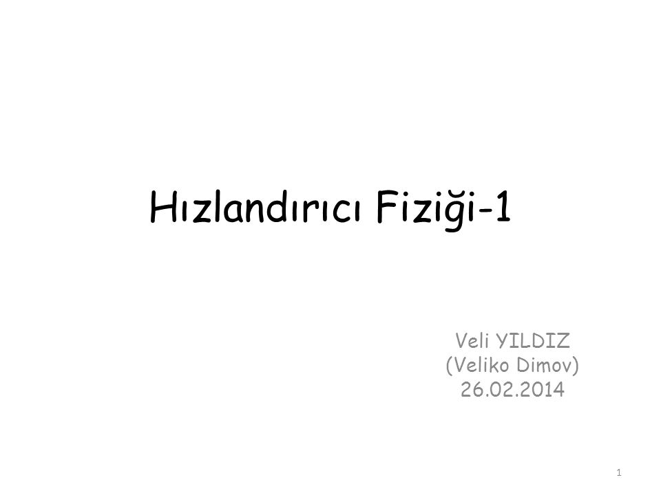 Veli YILDIZ (Veliko Dimov) 26.02.2014