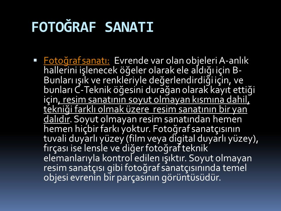 FOTOĞRAF SANATI