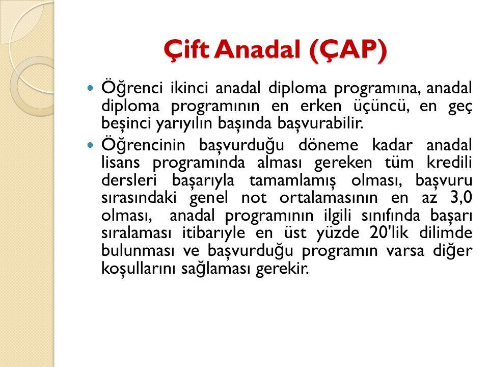 Çift Anadal (ÇAP)