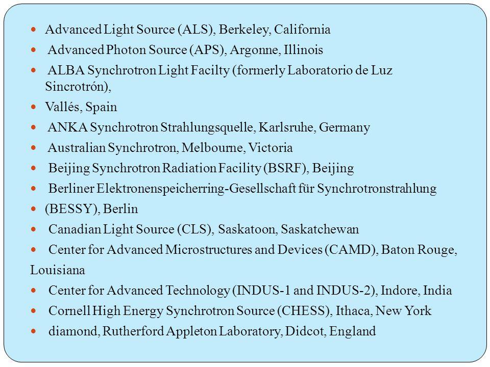 Advanced Light Source (ALS), Berkeley, California