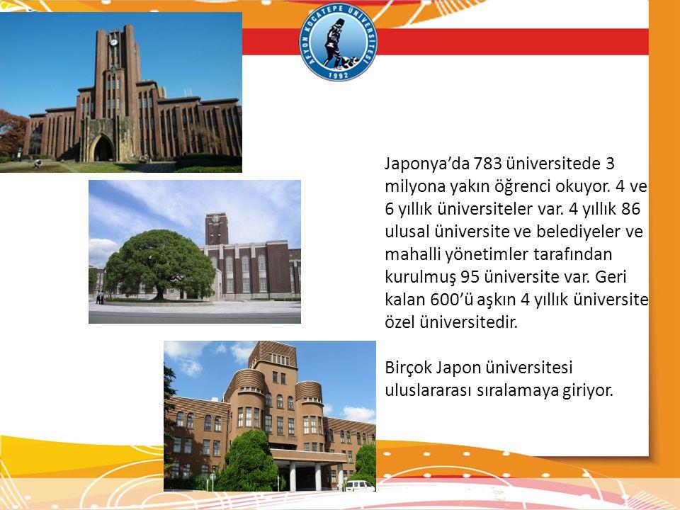 Japonya'da 783 üniversitede 3 milyona yakın öğrenci okuyor