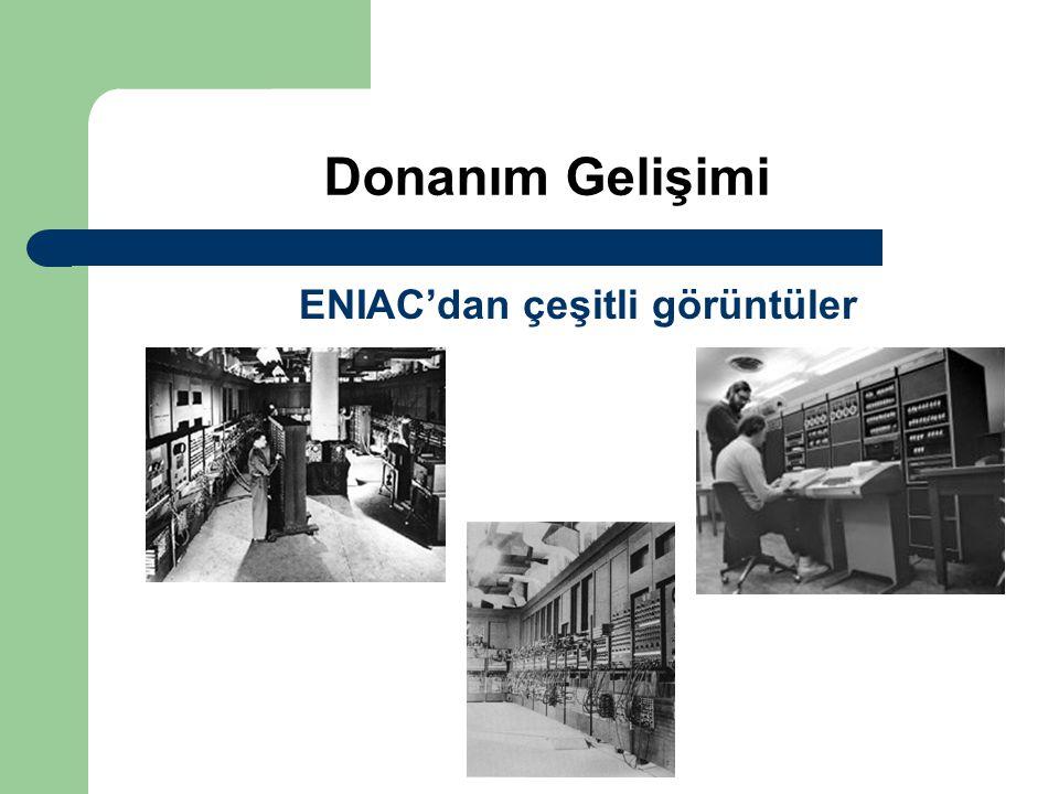 ENIAC'dan çeşitli görüntüler