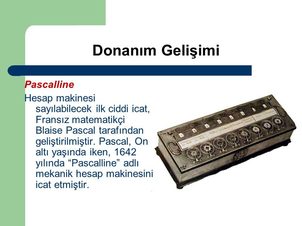 Donanım Gelişimi Pascalline