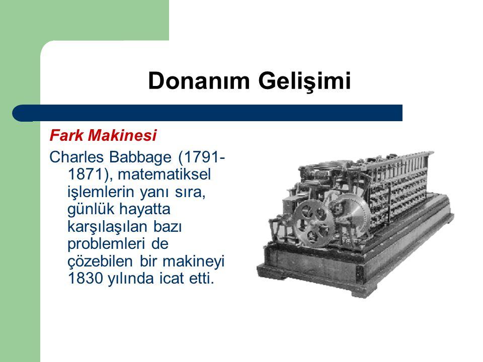 Donanım Gelişimi Fark Makinesi